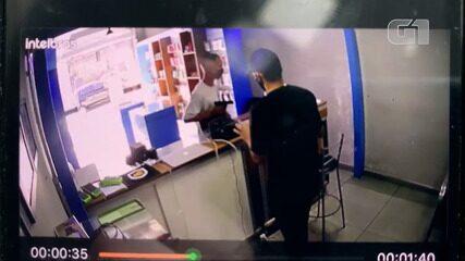 Circuito de segurança flagra ação de bandido durante assalto a loja em BH