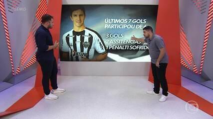 Movimentação de Nacho Fernández chama a atenção nos jogos do Atlético