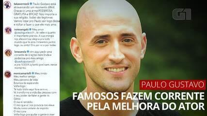 VÍDEO: famosos, parentes e amigos fazem corrente de oração pela melhora de Paulo Gustavo