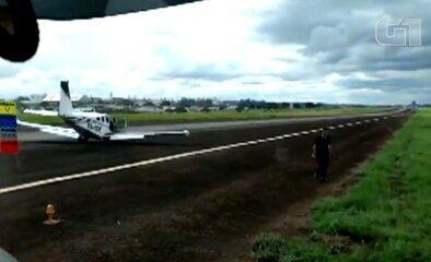 Avião monomotor faz pouso de emergência em Rio Verde; vídeo
