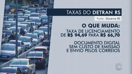 Deputados aprovam redução de taxa de licenciamento de veículos no RS; de R$ 94 para R$ 66