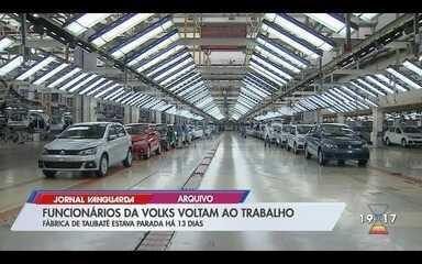 Funcionários da Volks voltam ao trabalho em Taubaté