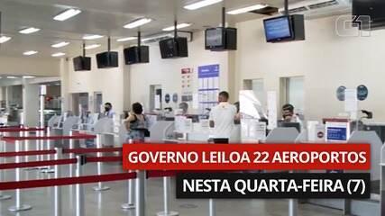 VÍDEO: 22 aeroportos vão a leilão nesta quarta-feira (7)