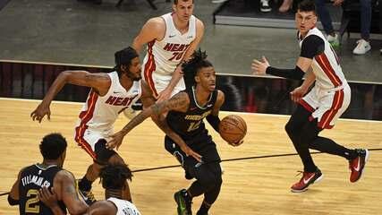 Melhores momentos de Miami Heat 112 x 124 Memphis Grizzlies pela NBA