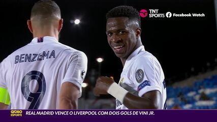 Real Madrid vence o Liverpool com dois gols de Vinicius Junior