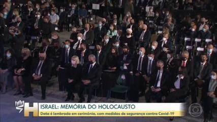 Cerimônia em memória ao Holocausto, em Israel
