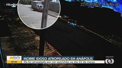 Idoso atropelado em Anápolis morre após 16 dias internado