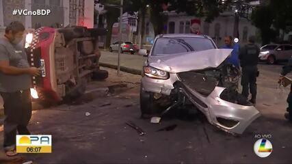 Três acidentes de trânsito são registrados no início da manhã desta quinta (8), em Belém