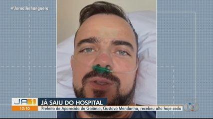 Prefeito de Aparecida de Goiânia, Gustavo Mendanha recebe alta após se curar da Covid-19