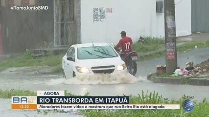 Forte chuva é registrada em bairros de Salvador nesta quinta-feira