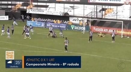 URT vence Athletic fora de casa e entra no G-4 do Mineiro