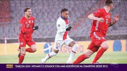 Neymar: o garçom da Liga dos Campeões