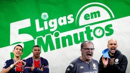 5 ligas em 5 minutos: Guardiola revê guru Bielsa, e PSG corre atrás do líder na França