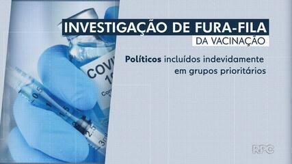 Políticos são suspeitos de furar fila da vacinação contra Covid-19