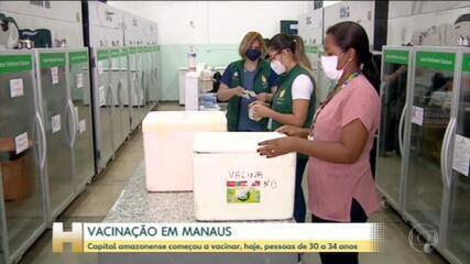 Manaus começou a vacinar moradores de 30 a 34 anos que tenham alguma doença preexistente