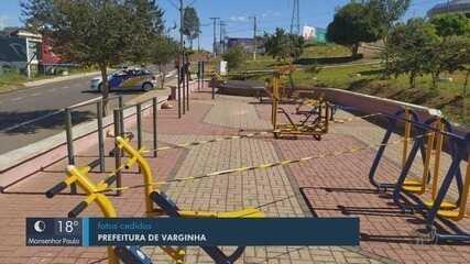 Prefeitura de Varginha (MG) interdita pista de caminhada para evitar aglomerações