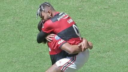Os gols de Flamengo 2 (6) x (5) 2 Palmeiras, pela Supercopa do Brasil 2021