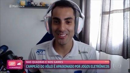 Campeão olímpico de Vôlei é apaixonado por jogos eletrônicos