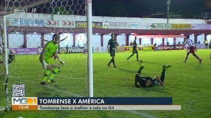 Tombense vence o América-MG e cola no G-4 do Mineiro