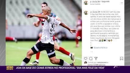 """Joia da base do Ceará estreia no profissional: """"Dia mais feliz da vida"""""""