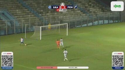 Inacreditável? Autor de gol à la Fenômeno perde chance incrível após escorregão do goleiro