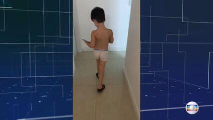 Vídeo mostra Henry mancando no apartamento onde morava com a mãe e Jairinho