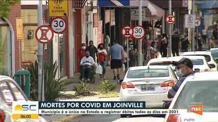 Covid-19: Joinville registra mortes pela doença todos os dias em 2021