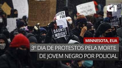 VÍDEO: Manifestantes protestam pelo 3º dia nos EUA após morte de jovem negro em abordagem