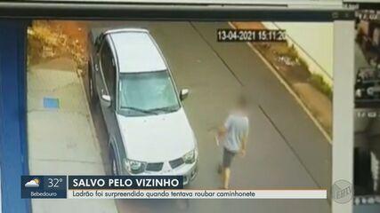 Ladrão é surpreendido enquanto tentava roubar caminhonete em Ribeirão Preto