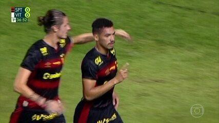 Gol do Sport! Adryelson sobe alto para marcar de cabeça contra o Vitória-PE aos 36 do 1ºT
