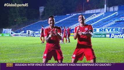 Inter vence Aimoré com direito a show de Galhardo, que pede música no GE