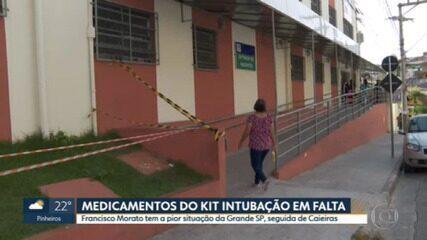 Nove cidades da Grande SP têm estoques de 'kit intubação' para menos de 15 dias