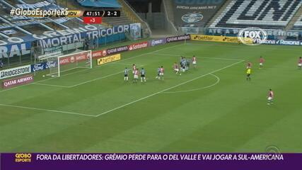 Grêmio perde na Arena de virada para o Del Valle e está fora da Libertadores