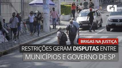 VÍDEO: Desrespeito às restrições gera ações e disputas entre Governo de SP e municípios
