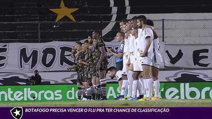 Botafogo precisa vencer o Fluminense para ter chance de classificação