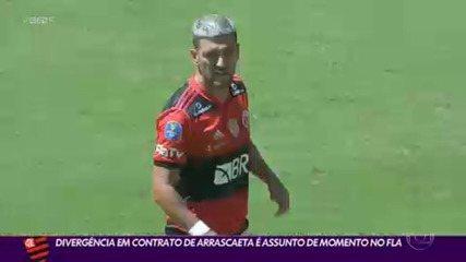 Divergência em contrato de Arrascaeta é assunto de momento no Flamengo