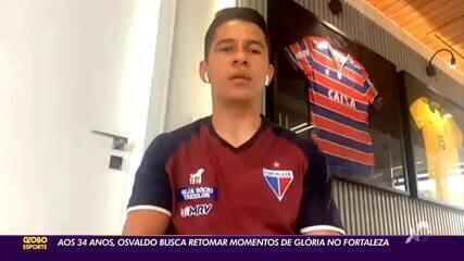Aos 34 anos, Osvaldo busca retomar momentos de glória no Fortaleza