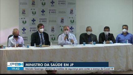 Ministro da Saúde visita João Pessoa e fala sobre enfrentamento à pandemia