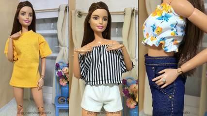 Designer de moda e costureira empreendem criando looks para bonecas e bonecos