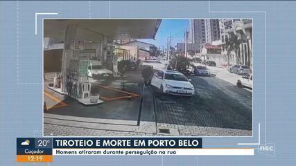 Homem é morto após tiroteio e perseguição na rua em Porto Belo