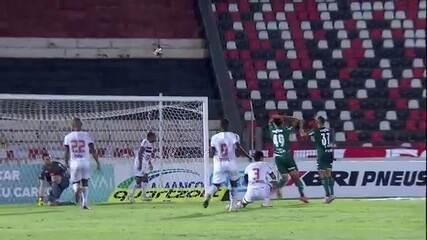 Veja lances de Botafogo-SP 0 X 0 Palmeiras