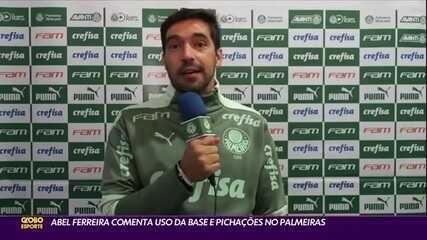 Abel Ferreira fala sobre uso da base e pichações contra ele