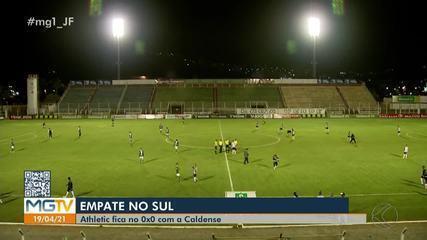 O Athletic segura a pressão e empata com o Caldense, fora de casa, pelo Mineiro