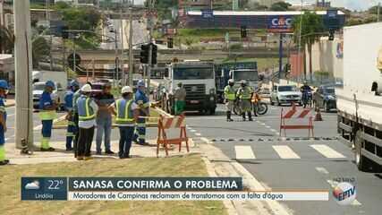 Sem água, moradores da região do Jardim Pauliceia, em Campinas, cobram manutenção na rede