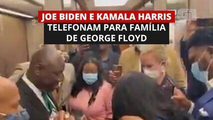 Joe Biden e Kamala Harris telefonam à família de George Floyd