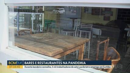 Cinco mil trabalhadores do setor de restaurantes perderam o emprego em Curitiba