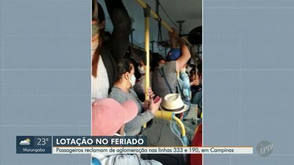 Passageiros reclamam de aglomeração nas linhas 333 e 190 em Campinas