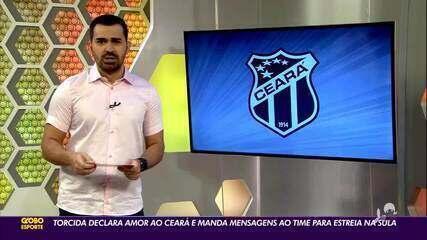 Torcida declara amor ao Ceará e manda mensagens ao time em estreia na Sula