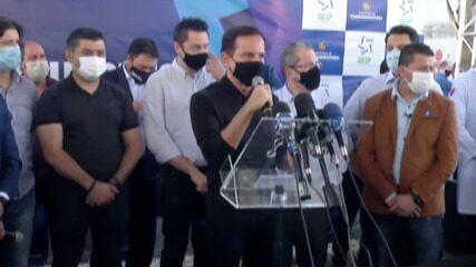 Governador João Doria participa da inauguração do Hospital de Campanha de Itaquaquecetuba