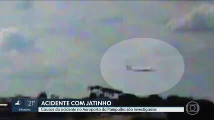 Técnicos da Cenipa e Infraero analisam destroços de avião que se acidentou na Pampulha
